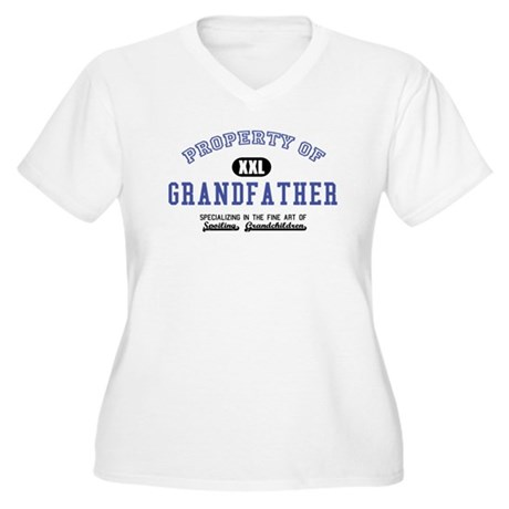 Property of Grandfather Women's Plus Size V-Neck T