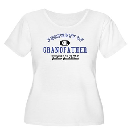 Property of Grandfather Women's Plus Size Scoop Ne