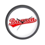 Retro Brennen (Red) Wall Clock