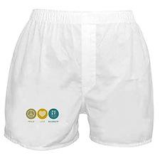 Peace Love Biochemistry Boxer Shorts