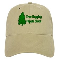 Tree Hugging Hippie Chick Baseball Cap