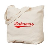 Vintage Bahamas (Red) Tote Bag