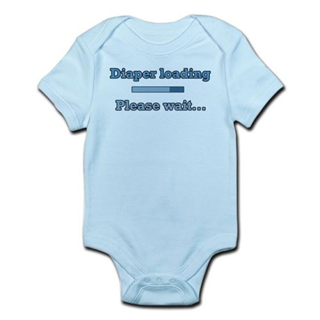 Blue Diaper Loading Infant Bodysuit