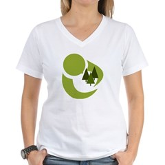 Tree Hugger Women's V-Neck T-Shirt