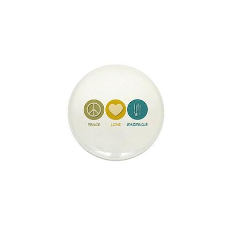 Peace Love Barbecue Mini Button (100 pack)