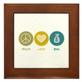 Peace Love Bail Framed Tile