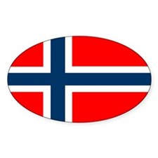 Norwegian Flag Oval Decal
