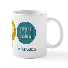 Peace Love Backgammon Mug