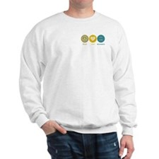 Peace Love Backgammon Sweatshirt