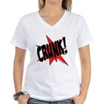 CRUNK! Women's V-Neck T-Shirt