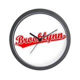 Retro Brooklynn (Red) Wall Clock
