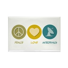 Peace Love Astrophysics Rectangle Magnet