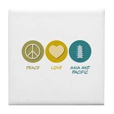 Peace Love Asian and Pacific Area Studies Tile Coa