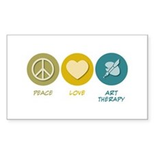 Peace Love Art Therapy Rectangle Decal