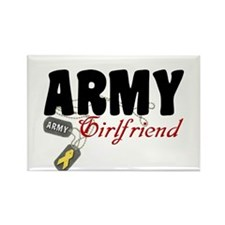 Army Girlfriend Dog Tags Rectangle Magnet