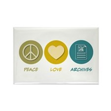 Peace Love Archives Rectangle Magnet (10 pack)