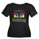 Germany Women's Plus Size Scoop Neck Dark T-Shirt