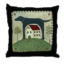 Primitive Labrador 2 Throw Pillow