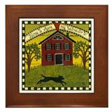 Primitive Labrador Framed Tile