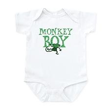Green Monkey Boy Infant Bodysuit