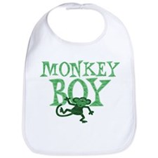 Green Monkey Boy Bib