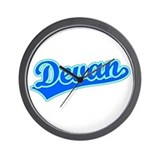 Retro Devan (Blue) Wall Clock