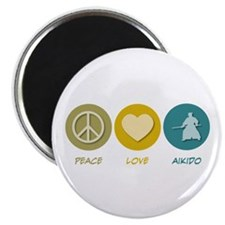 "Peace Love Aikido 2.25"" Magnet (100 pack)"