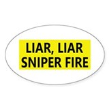 Hillary Clinton Sniper Oval Decal