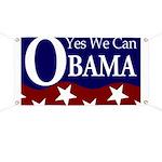 Barack Obama Yes We Can Banner