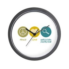 Peace Love Agricultural Inspector Wall Clock
