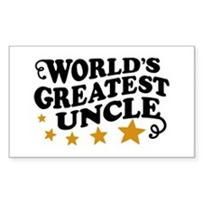 World's Greatest Uncle Rectangle Decal