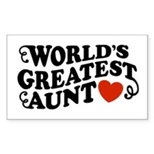 World's Greatest Aunt Rectangle Decal