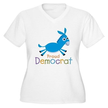 Proud Democrat Women's Plus Size V-Neck T-Shirt