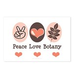 Peace Love Botany Botanist Postcards (Package of 8