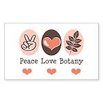 Peace Love Botany Botanist Rectangle Sticker