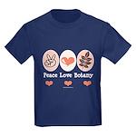 Peace Love Botany Botanist Kids Dark T-Shirt