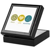 Peace Love Accounting Keepsake Box