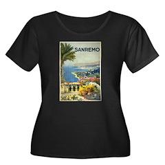 Sanremo Travel Poster Women's Plus Size Scoop Neck
