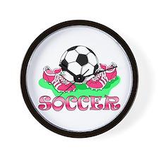 Soccer (Pink) Wall Clock