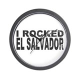 I Rocked El Salvador Wall Clock