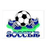 Soccer (Blue) Postcards (Package of 8)