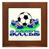 Soccer (Blue) Framed Tile