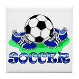 Soccer (Blue) Tile Coaster