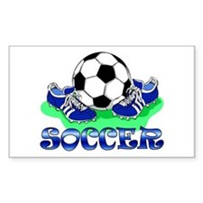 Soccer (Blue) Rectangle Decal