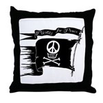 Pirates for Peace Throw Pillow