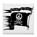 Pirates for Peace Tile Coaster