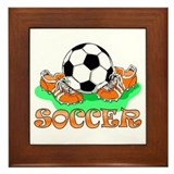 Soccer (Orange) Framed Tile