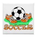 Soccer (Orange) Tile Coaster