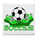 Soccer (Green) Tile Coaster