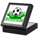 Soccer (Green) Keepsake Box